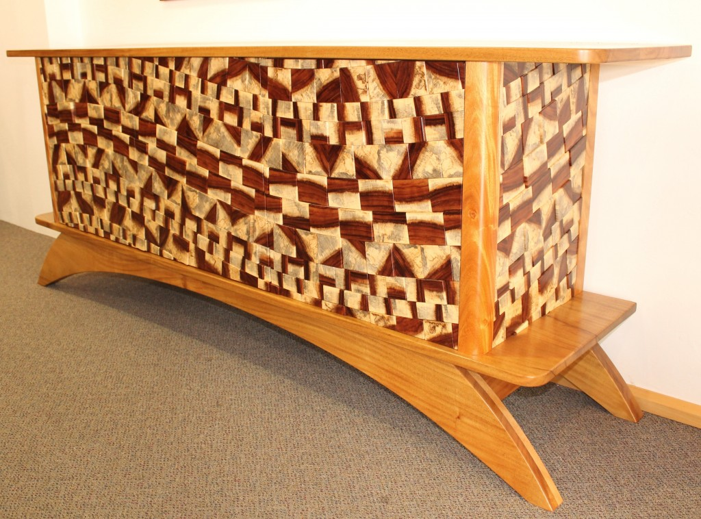 furniture making, cabinet making, cabinetmaker, hand made furniture, bespoke furniture, darwin made, nt made, solid timber , Three Door Guanacaste end grain and Darwin Black Wattle