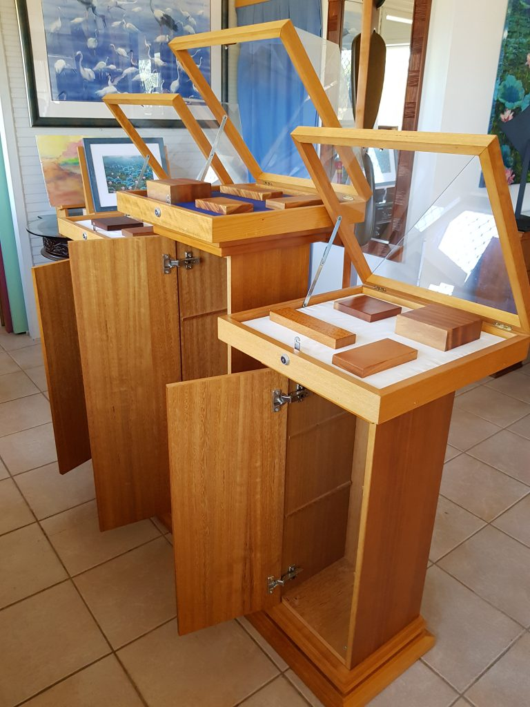 furniture maker, cabinet maker, jewellery display, pyramids, shop fitting, mineral display,